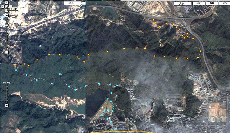 梅林水库 及 纵走大脑壳山脉;; 脑壳山城市森林公园,在山顶建设能俯瞰